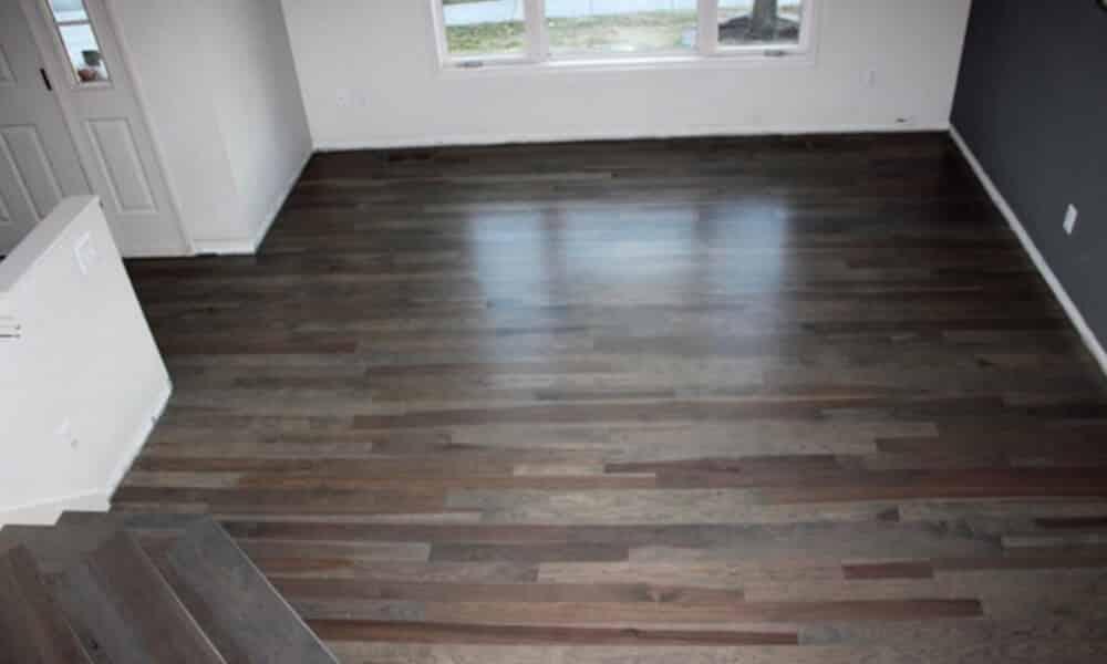 hardwood floor refinishing example