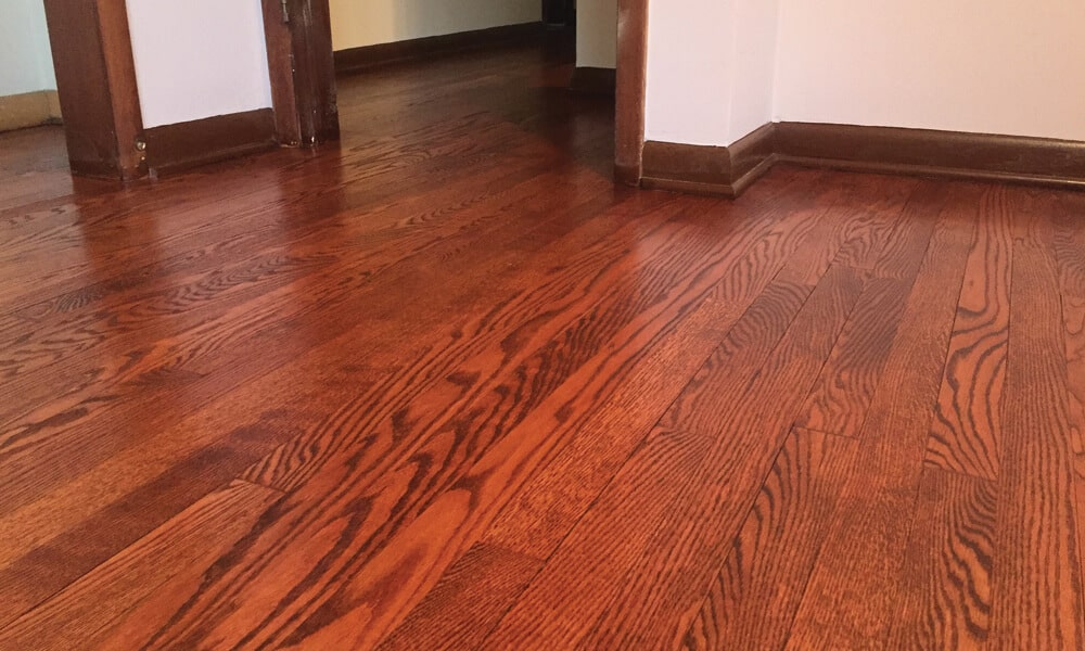 hardwood floor refinishing example