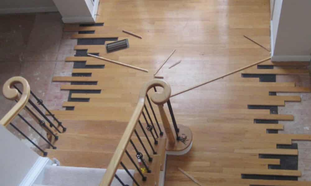 wood floor repair example